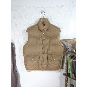 Vintage nuetral gold down puffer vest